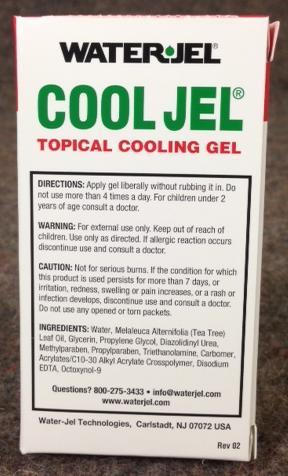 Waterjel Cool Jel Unit Boxes