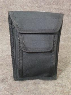 "Black 4 Pocket Holster Case, Dim: 5½"" x 7"""
