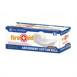 Sterile Absorbent Cotton Roll, ½ oz