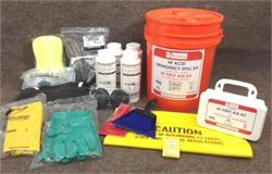 Single Person HF Spill Kit showing contents