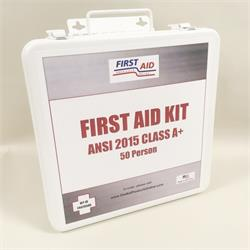 50 Person ANSI 2015 First Aid Kit Class A+, Economy #F442050G