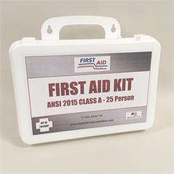 ANSI 2015 First Aid Kit (Class A+) 25 Person, Economy Bulk Contents