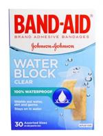 J & J Band-Aid® Brand Water Block Clear, 30 Count