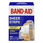 J & J Band-Aid® Brand SHEER STRIPS, 40 Count