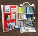 100 Person First Aid Kit, Indoor Metal Cabinet
