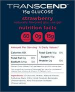 Transcend Strawberry Flavored Glucose Gel Nutrition Facts