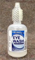 Sterile Eyewash 1 oz. Screw-top Bottles