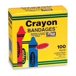 "Crayon Bandages - ⅝"" x 3"", Box 100"