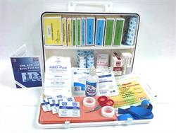 Contents of ANSI 2015 Class B First Aid Kit, 36P Plastic Cabinet