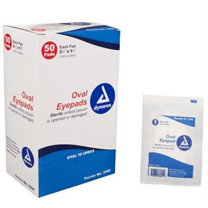 Sterile Eye Pads, Box of 50
