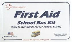 NY School Bus First Aid Kit, Metal, #F10-220