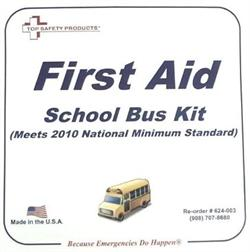 2010 National Minimum Standard School Bus First Aid Kit, Metal, #F24-003