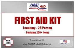 Economy 25 person First Aid Kit, #F44025