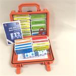 Contractor's Waterproof First Aid Kit in Orange Pelican Case #F10-111