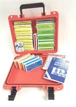 Contractor's Waterproof First Aid Kit in Orange Seahorse Case #F16-111S