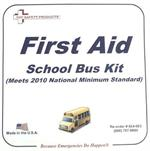 2010 National Minimum Standard School Bus First Aid Kit, Plastic