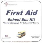 OHIO School Bus First Aid Kit, Metal, #F24-005