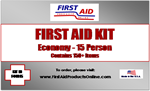 Economy 15 person First Aid Kit, #F44015