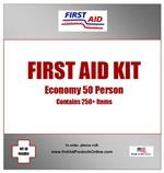Economy 50 person First Aid Kit, #F44050